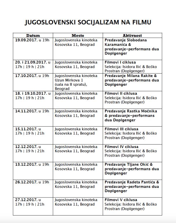 jsf raspored
